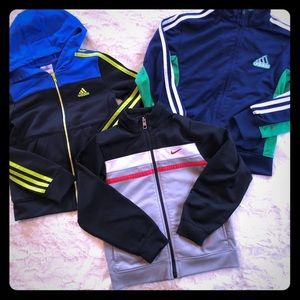 1 Nike 2 Adidas jackets & hoodie Bundle size 6/7
